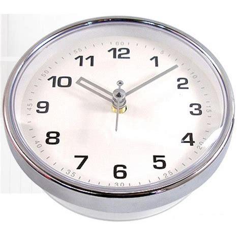waterproof clocks for bathroom chrome bathroom wall clock suction watch kitchen shower