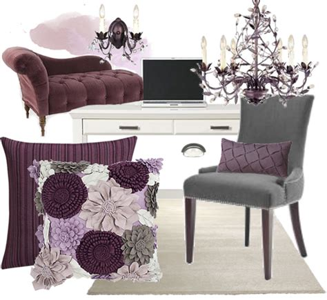 plum and gray bedroom dormer desk nook interior design inspiration eva designs