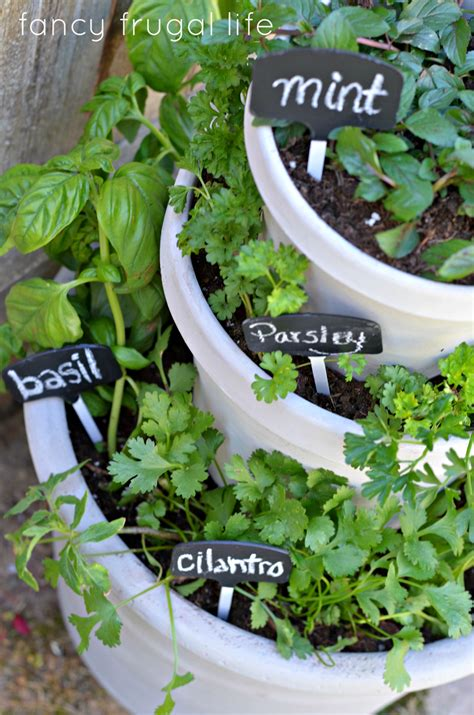 diy herb garden ideas diy stacked herb garden