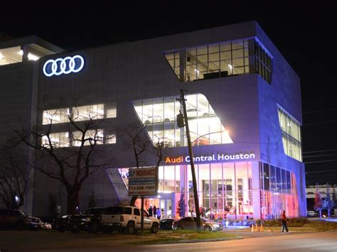 Audi Of Central Houston by Fast Cars Big Guns Turn Luxury Dealership