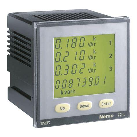 Multi Function Meter ime nemo 72 l panel mounted multi function meter single