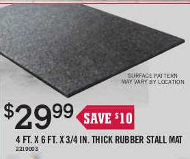 rubber stall mat 4 ft x 6 ft at tractor supply