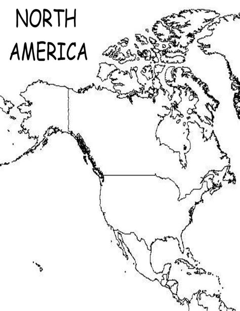 America Map Outline Printable by Blank Political Map Of America
