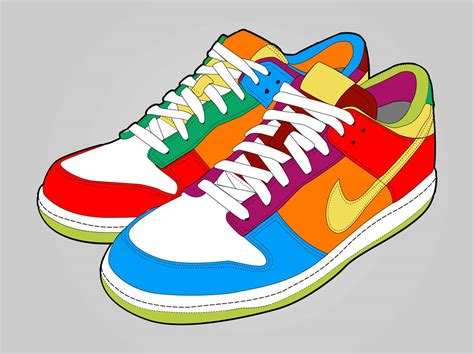 colorful shoes colorful shoes vector graphics freevector