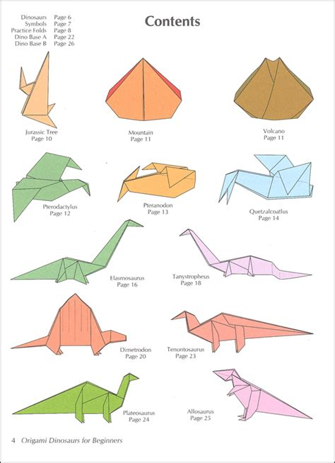 Beginners Origami - origami dinosaurs for beginners 026101 details rainbow