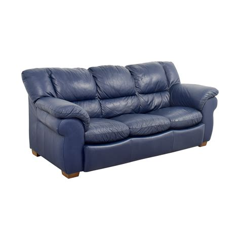 macys leather sofas on sale 86 macy s macy s navy blue leather three cushion
