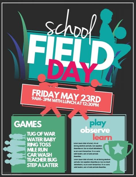 sports day poster template field day template postermywall