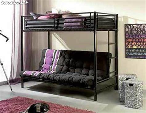 somier con cama abajo litera metalica bali con somier superior y futon a libro abajo