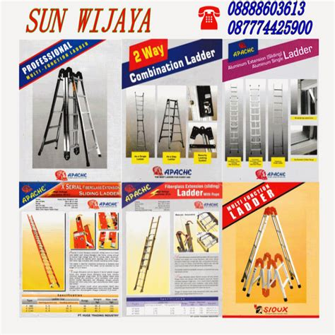 Harga The Shop Sun tangga lipat aluminium slidding dan fiber apache welcome