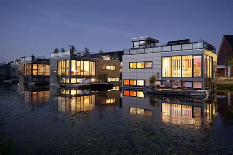 floating house floating homes utrecht commissioned by discovery channel magazine architecture