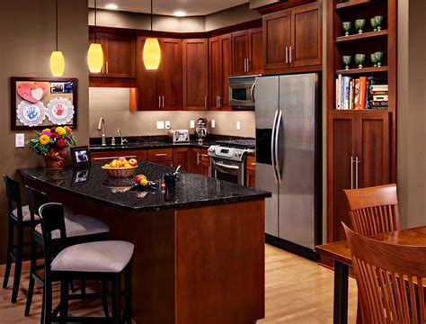 Cherry Cabinets Kitchen Contemporary With Ceiling Lighting Modern Cherry Kitchen Cabinets