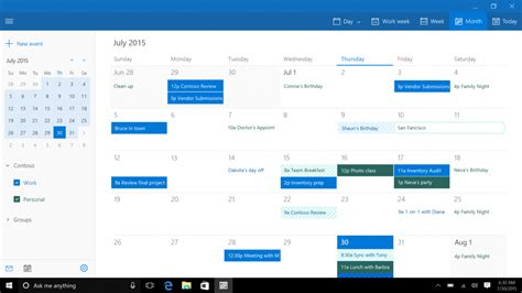Calendario Windows 10 Mail Calendar And The Windows 10 Review The