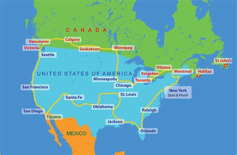 america map toronto united states of america route 2016 the sri chinmoy