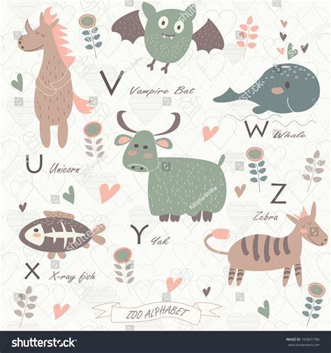 quot animals zoo alphabet with animals u zoo alphabet animals u v stock vector 163841786