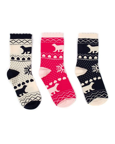 Trio Bears Socks by Ted Baker Robyn Polar Print Gift Socks Lyst