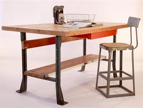 Industrial Style Kitchen Tables Upcycled Industrial Style Work Table Desk Kitchen By Hundredacre