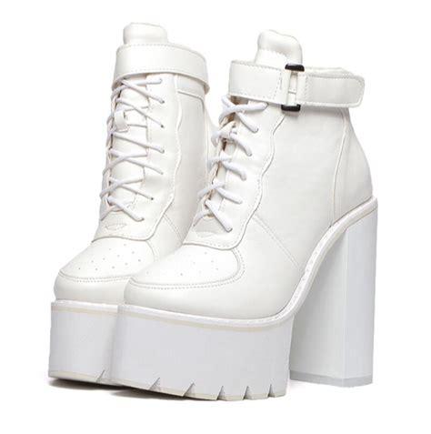 cheap white platform boots boots pumps winter
