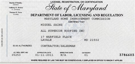 home improvement license md home ideas