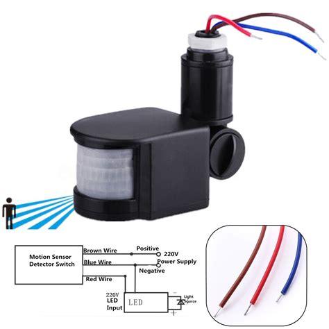 led 220v infrared pir motion sensor detector wall light