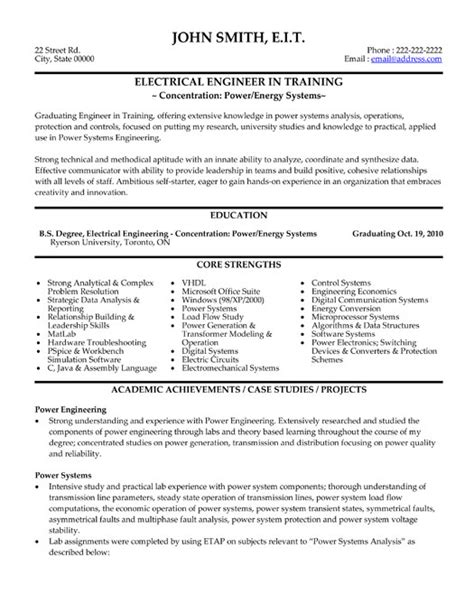 Resume Sles For Freshers Engineers Eee Click Here To This Electrical Engineer Resume Template Http Www Resumetemplates101