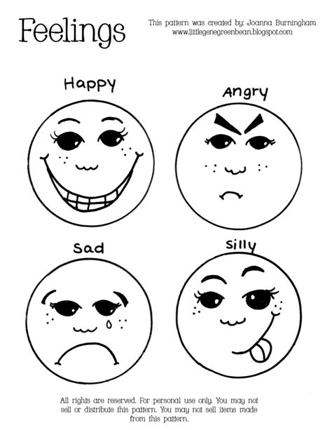 printable emotion faces emotions printable emotions pinterest