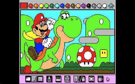 mario painting throwback thursday mario paint the real mario maker