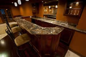 Updated Kitchen Cabinets golden thunder granite in basement bar amp entertainment