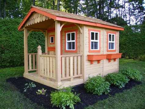 wooden playhouse kits home depot woodideas