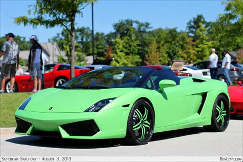 Lime Green Lamborghini Gallardo Supercar Saturdays August 3 2013 Benlevy
