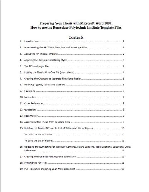 avery table of contents template download google docs