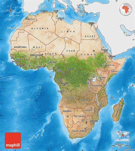africa map sea satellite map of africa single color outside bathymetry