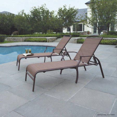 outdoor chaise lounge chairs walmart mainstays sand dune chaise lounges set of 2 walmart com