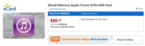 Can You Buy Itunes Gift Card At Walmart - buy a 100 itunes gift card at walmart for 80 geeky gadgets