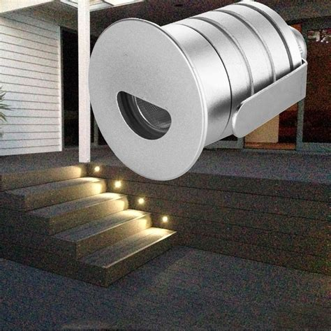 Led Stair Lights Outdoor ξled Step Light Outdoor Recessed Wall Wall Light L 12v 12v 1w Ip67 Waterproof Exterior