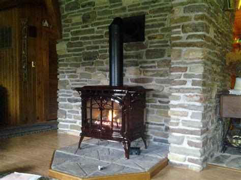 gas stove install replace wood stove traditional