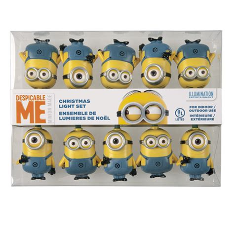 despicable me minion christmas light set universal orlando