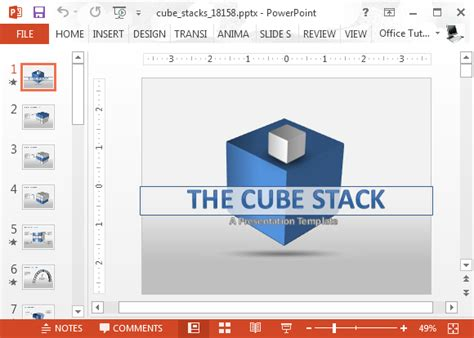 Animated 3d Cube Diagrams For Powerpoint Presentations Animated Powerpoint Template Free