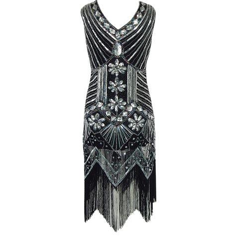 vintage pattern tassel dress european 1920s vintage beaded sequin tassel dress elegant