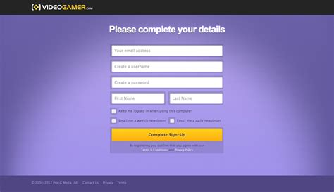 design form registration registration and login ui design