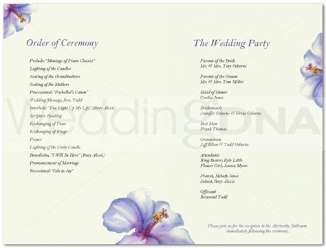 free wedding program template search results for free wedding program templates