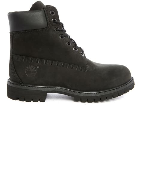 black timberland boots for timberland premium black nubuck 6 inch boots for lyst