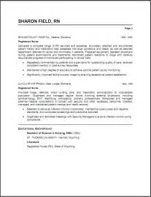 Resume Templates For Nursing Jobs – Registered nursing resume template