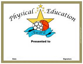 Physical Template For Students by Physical Education Awards And Certificates Free