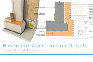 Bathroom Floor Waterproofing - basement construction details first in architecture