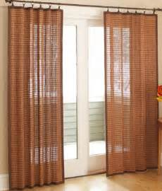 Bamboo Panel Curtains Banded Bamboo Panel