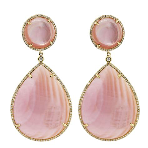 Pink Earring pink of pearl earrings raymond jewelers