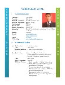 Curriculum Vitae Components by Curriculum Cvs