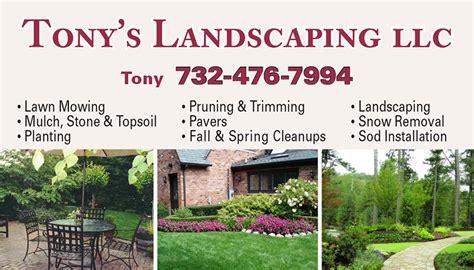 the landscape company jamesburg press 187 business cards