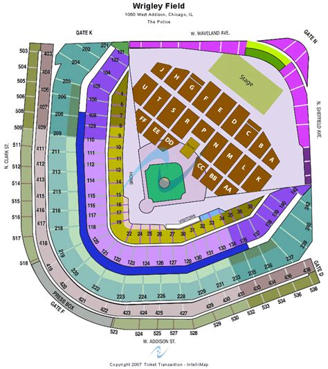 wrigley field seating the gallery for gt wrigley field seating chart with rows