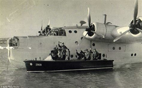 flying boat mount wwii sunderland flying boat raised from seabed 65ft below